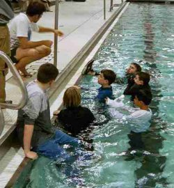 suvival swimming lesson
